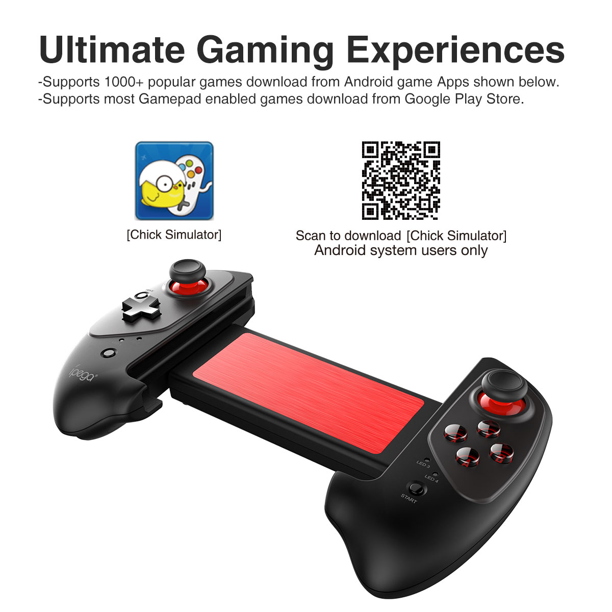Bluetooth stretching gamepad