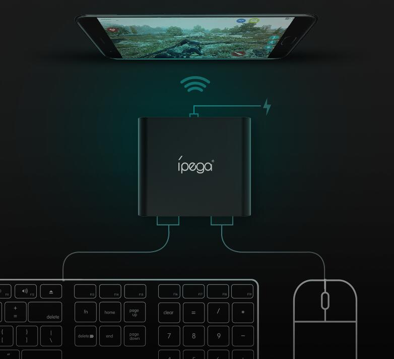 Ipega Bluetooth Keyboard and Mouse Converter