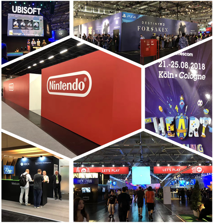 World-renowned game companies gather at the Cologne Game Show in Germany